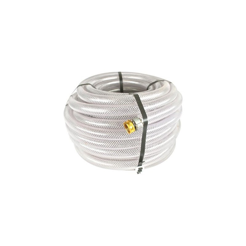 Hose 3/4in Clear Braided